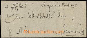 59626 - 1712 skládaný vojenský poselský předrazítkový dopis