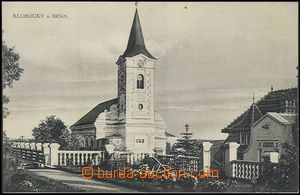 59641 - 1920 Klobouky near Brno - surroundings church; Un, very ligh