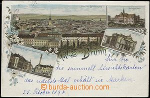 59643 - 1897 Brno - lithography; long address, Us, good condition