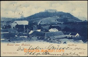 59645 - 1899 Brno - factory yard, in background Špilberk, blue shad