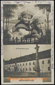 59646 - 1910 Královo Pole (Königsfeld) - škola kadetů, děti; pr
