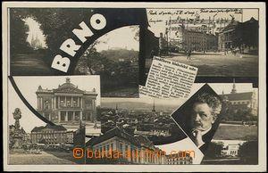 59659 - 1933 JANÁČEK Leoš, photo-collage from Brno; Us, very good