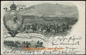 59666 - 1897 FRANZ JOSEPH I.  lithography from Bystřice pod Hostýn