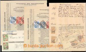 59748 - 1933-35 BELGIUM  sestava 5ks obchodních a celních listin s