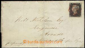 60127 - 1840 skládaný dopis zaslaný z Cullercoates přes Gateshea