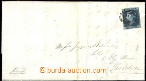 60132 - 1845 skládaný dopis z Dewsbury (hrabství Yorkshire) do Lo