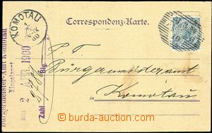 60151 - 1900 card with additional-printing firm Ed.J.Weinmann with 5