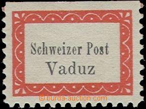 60200 - 1918 Mi.I A, Boten- Post Vaduz - Sevelen, stamp. courier pos