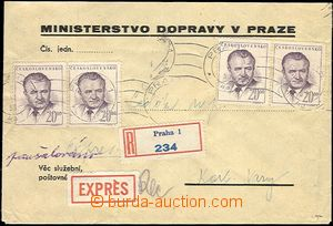 60272 - 1953 úřední R+Ex dopis s paušalovaným poštovným, vyfr