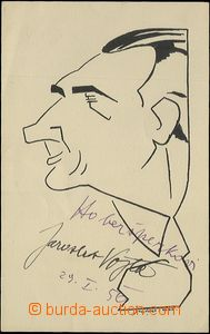 60282 - 1950 VOJTA Jaroslav, herec, karikaturní kresba od Šnejdár