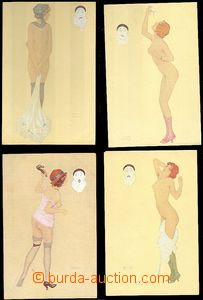 60291 - 1910? set 7 pcs of drawn color nude from Raphaëla Kirchnera