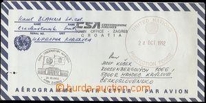 60295 - 1992 ČSR II. UNPROFOR, předtištěný aerogram (s převrá