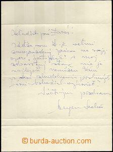 60299 - 1970? SUCHOŇ Eugen, hudební skladatel, vlastnoručně psan
