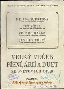 60308 - 1958 ŠUBRTOVÁ Milada, ŽÍDEK Ivo, HAKEN Eduard, TICHÝ Ja