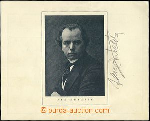 60311 - 1923 KUBELÍK Jan, houslový virtuos, celý podpis na koncer