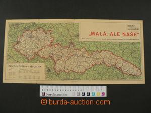 60325 - 1938 Mapa Česko-Slovenska a Podkarpatské Rusi, zobrazuje rep