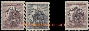 60409 - 1945 Frýdecký overprint on stmp BOHEMIA-MORAVIA St. Vitus.,