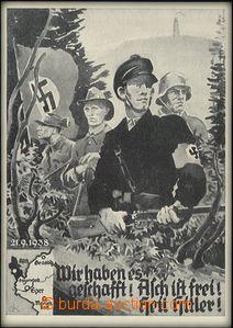 60438 - 1938 Obsazení ašského výběžku, 21.9.1938, čb kreslená pohled