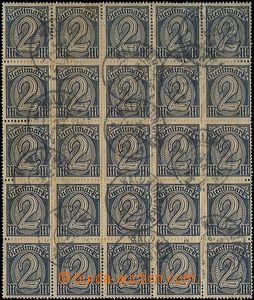 60443 - 1920 Mi. D32, služební známky (Dienstmarken), 25-blok, na