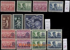 60452 - 1939 Mi.425-428 20 years republic, Mi.429-31 Basketball, Mi.