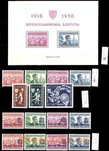 60466 - 1939 comp. of stamps Mi.425-28 incl. miniature sheet Bl.1A