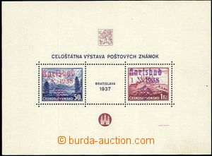 60535 - 1938 KARLSBAD  Mi.Bl.1 Bratislava miniature sheet with red a