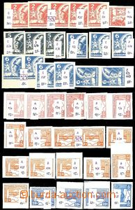 60549 - 1945 Pof.353-59 Košice-issue, selection of 39 pcs of variou