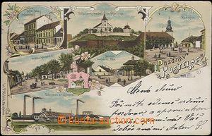 60613 - 1906 Kostelec nad Labem, barevná kolážová lito, 6 záběrová,