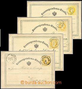 60700 - 1869-72 AUSTRIA, část specializované sbírky 2Kr dopisnic