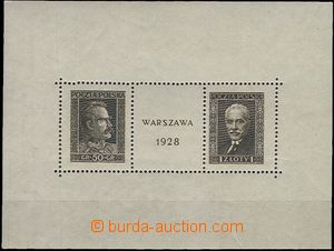 60802 - 1928 Mi.254/255 (Block 1.), Exhibition of Stamps Warsaw 1928