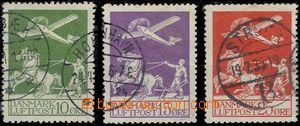 60959 - 1925 Mi.143-145 Airmail, good condition, c.v.. 120€