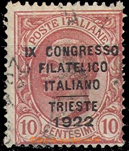 61053 - 1922 Mi.153 Philatelic Congress, overprint, on the average p