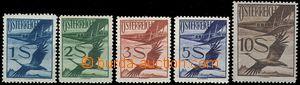 61054 - 1925 Mi.483-487 Letecké, koncové šilinkové hodnoty, svě