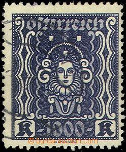 61055 - 1922 Mi.404B Hlava ženy, vzácné zoubkování ŘZ 11½