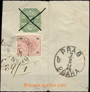 61059 - 1894 cut square from postal stationery covers Württembergu