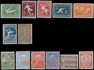 61106 - 1931-35 Mi.242-8 Balkan Games, Mi.280-85 Junák (scout), hea
