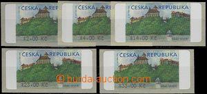 61348 - 2000 Pof.AT1 Veveří - III.vydání, hodnoty 2, 4, 14, 23 a 33K