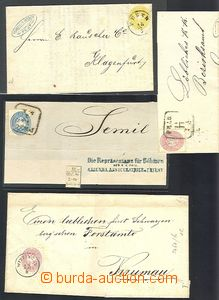 61433 - 1863-?? AUSTRIA, selection 12 pcs of folded letters or cover