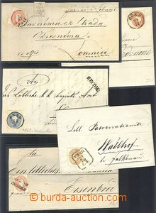 61435 - 1860-?? AUSTRIA, selection 10 pcs of folded letters or front