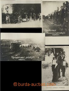 61513 - 1917 4x photo from executions after/behind WWI., Serbia, Udi