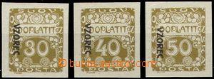 61619 - 1919 Pof.DL6-8vz, Ornament, přetisk VZOREC vlevo, směrem d