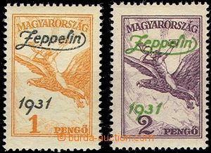 61633 - 1931 Mi.478-78 overprint Zeppelin, quality *, hinged, in add