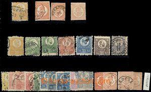 61634 - 1871-72 sestava známek výplatních a novinových I-IV.emise, n