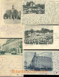 61635 - 1899-00 comp. 5 pcs of monochrome Ppc, 3x Bucharest (1x měs