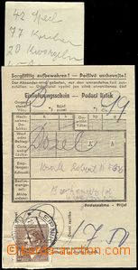 61671 - 1943 C.C. BUCHENWALD  certificate of mailing for parcel, wit