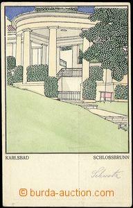 61695 - 1910? Wiener Werkstaette č.218 Karlsbad, Schlossbrunn, nepo