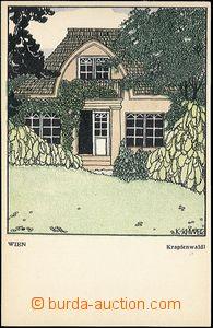 61696 - 1910? Wiener Werkstaette č.433, Wien, Krapfenwaldl, sign. K