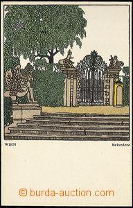 61697 - 1910? Wiener Werkstaette č.298, Wien, Belvedere, nepoužit�