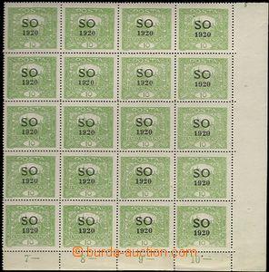 61763 -  Pof.SO4A, pravý dolní rohový 20-blok, přetisková deska