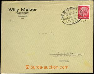 61773 - 1939 letter to Brno with oval postm. train post 0638 DRESDEN